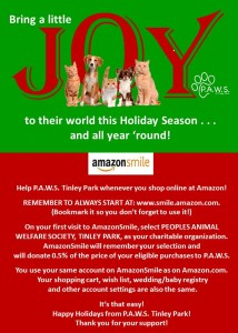 Amazon Smile for PAWS Tinley Park