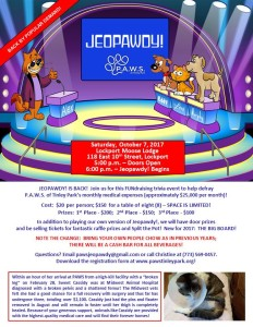 2017 Jeopawdy Flyer for Facebook Website & CC